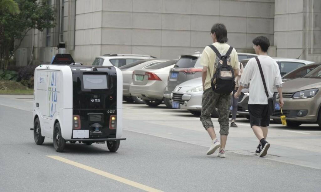 En robot i aksjon på et universitetscampus i Wuhan, Kina. 📸: Screenshot / Alizila