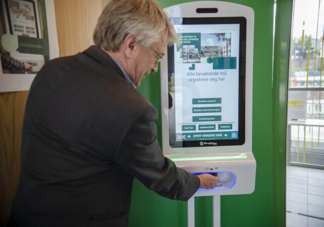 Den digitale helseverten på Solfjellshøgda helsehus i Oslo. 📸: Robert S. Eik