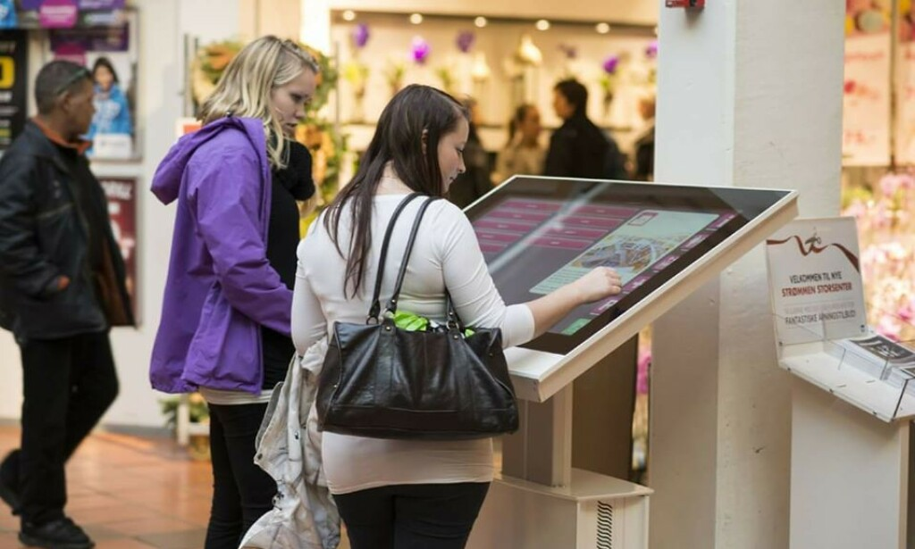 ProCon Digital leverer løsninger til kjøpesentre også. Her fra Strømmen Storsenter. 📸: ProCon Digital