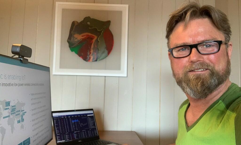 Investorkontakt Ståle Ytterdal hadde håpet på en enda større vekst for Nordic Semiconductor i 2021, noe som blir lammet av krisen. 📸: Privat