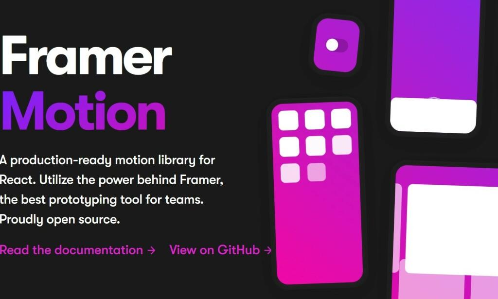 Framer Motion nærmer seg versjon 5.