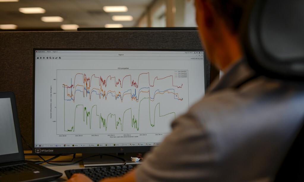 Sparebank1-utviklerne måler blant annet co2. 📸: Robert S. Eik